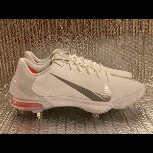 Nike Force Zoom Trout 7 Pro Baseball Cleats Men's Size 10 White Grey CQ7224-104